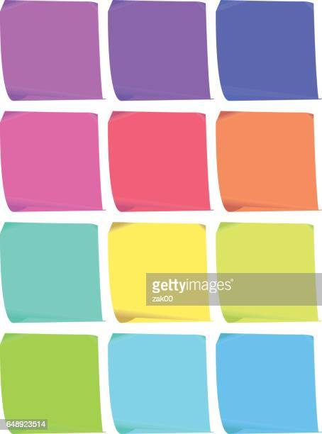 sticky notes - post it stock illustrations, clip art, cartoons, & icons