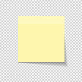 Sticky Paper Note on Transparent Background  Vector Illustratio