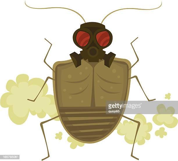 ilustraciones, imágenes clip art, dibujos animados e iconos de stock de insecto de pinacate - pedo