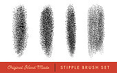 Stipple Brush Set for Texturing and Shadow