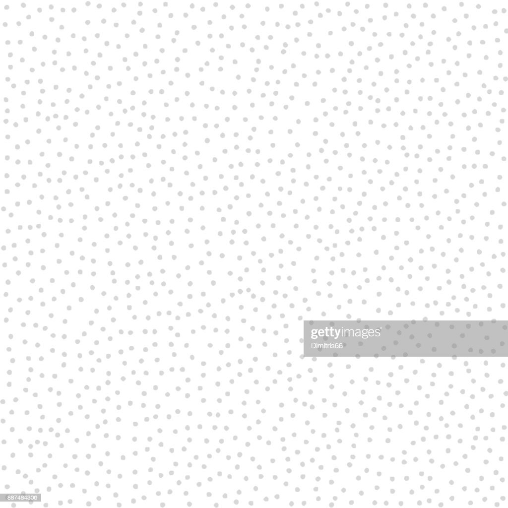 Stippled vector texture background - Gray dots on white : Stock Illustration