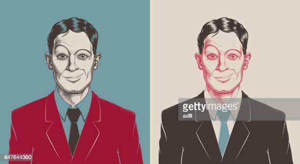 Tüpfelung Porträt Geschäftsmann