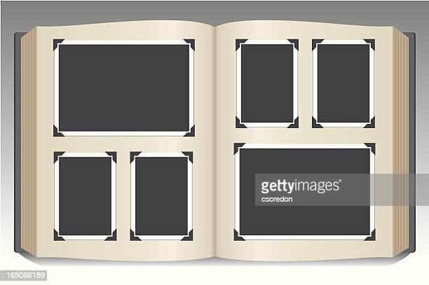 stock art of blank photo album - diary stock illustrations