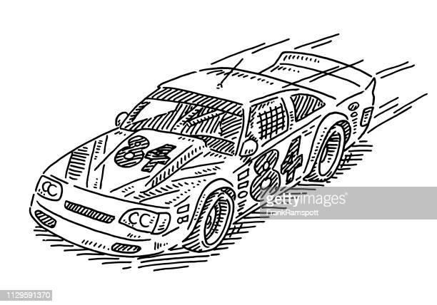 Stock Car-Rennen Zeichnung