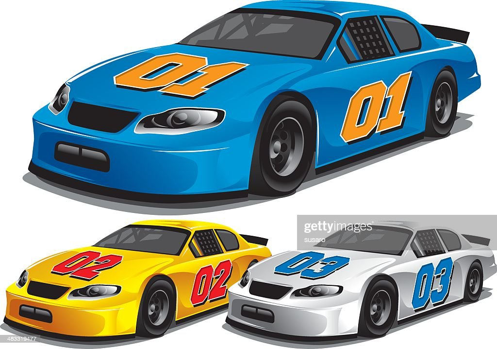 Stock Car Racing : stock illustration
