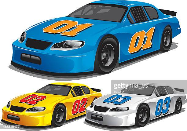 stock car racing - race car stock illustrations, clip art, cartoons, & icons