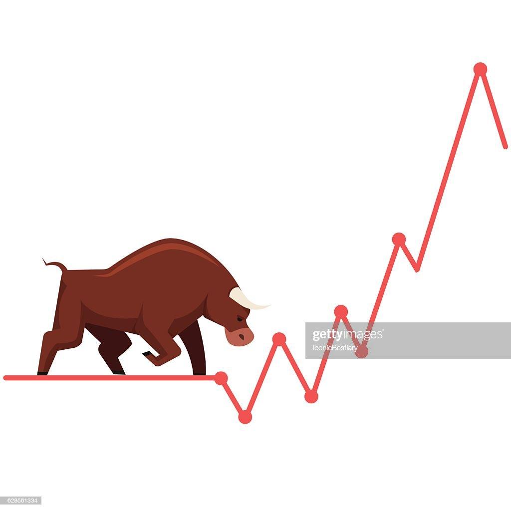 Stock exchange market bulls metaphor