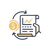 Stock Exchange - modern vector line design icon.