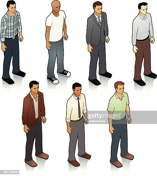 stock isometric men - mathisworks business stock illustrations