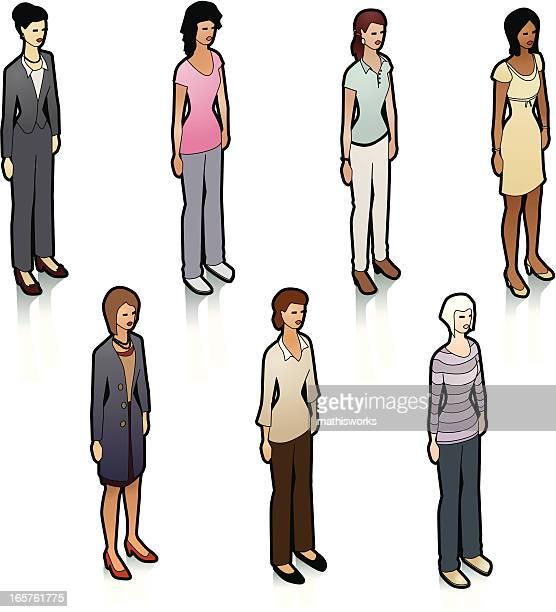 Stock Isometric Women