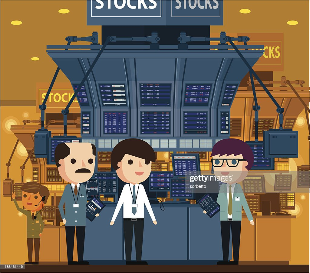 Stock Market and Traders : stock illustration