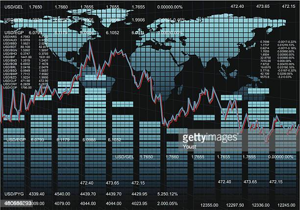 stock market background - wall street stock illustrations