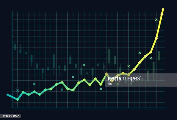 börsenblase oder wachstum - hinauf bewegen stock-grafiken, -clipart, -cartoons und -symbole
