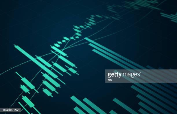 börse chart - wirtschaftszahlen stock-grafiken, -clipart, -cartoons und -symbole