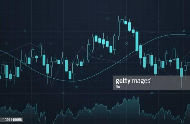 illustrazioni stock, clip art, cartoni animati e icone di tendenza di grafico del mercato azionario - bitcoin