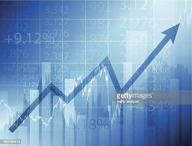 stock market chart - positive emotion stock illustrations