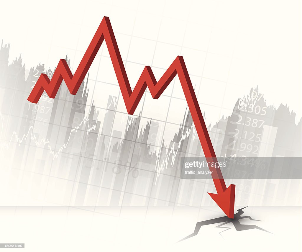 Stock market chart : Vector Art