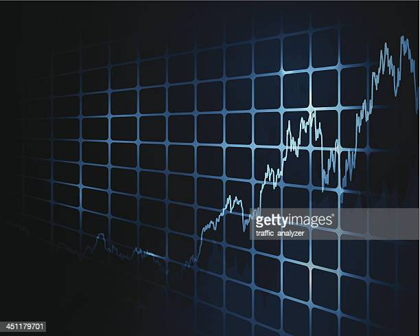 stock market chart - nasdaq stock illustrations, clip art, cartoons, & icons