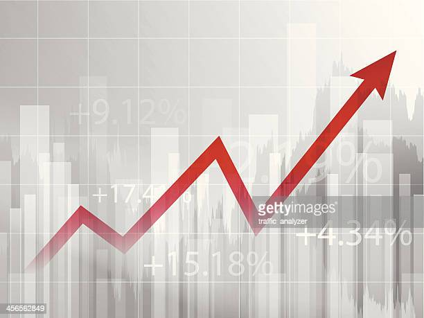 stock market chart - growth stock illustrations