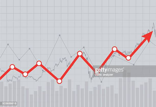 stock market chart - graph stock illustrations