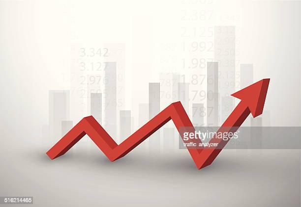 börse chart - börsenkurs stock-grafiken, -clipart, -cartoons und -symbole