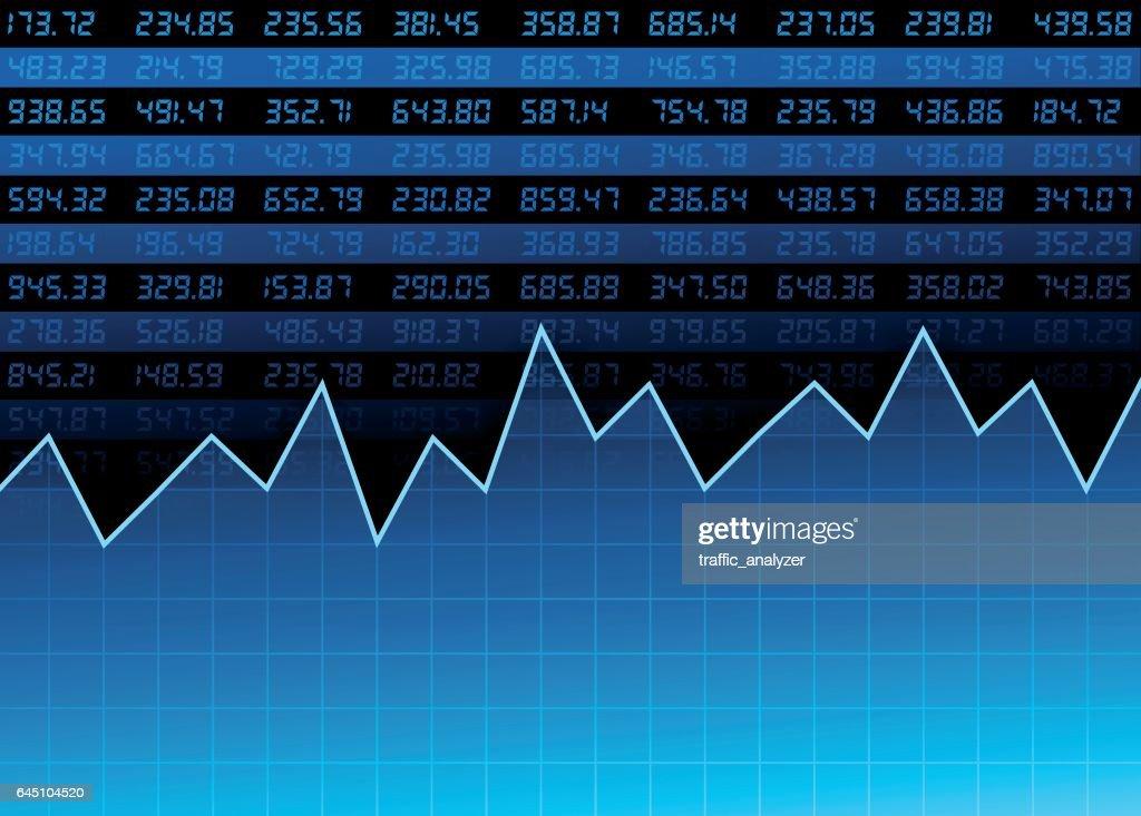 Stock market chart : stock illustration