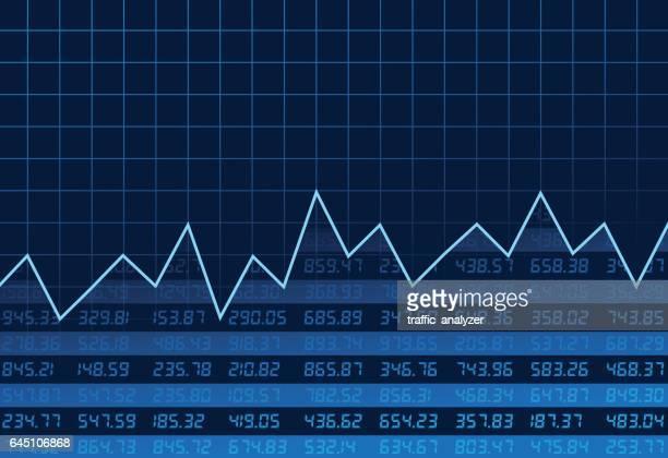 börse chart - kurstafel stock-grafiken, -clipart, -cartoons und -symbole
