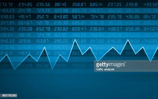 stock market chart - finance and economy stock illustrations, clip art, cartoons, & icons