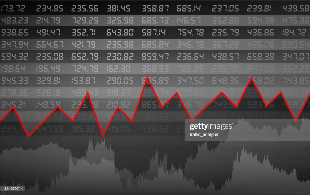 Stock market chart : stock illustration