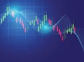 stock market chart vector illustration background