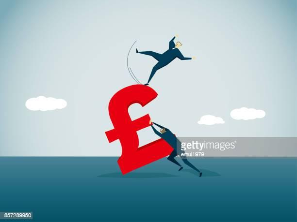 stock market crash - bad luck stock illustrations, clip art, cartoons, & icons