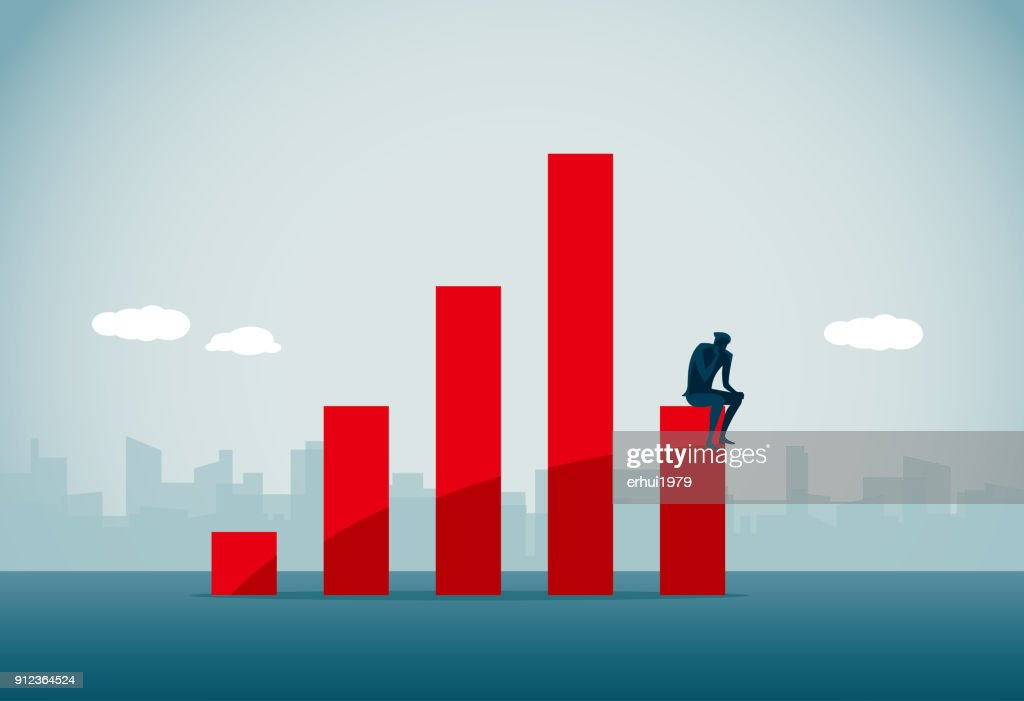 stock market crash : stock illustration