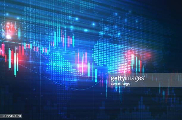 börsendiagramm hintergrund - internationale geschäftswelt stock-grafiken, -clipart, -cartoons und -symbole