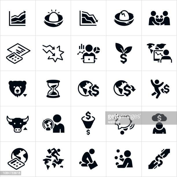 Stock Market Highs and Lows Icons