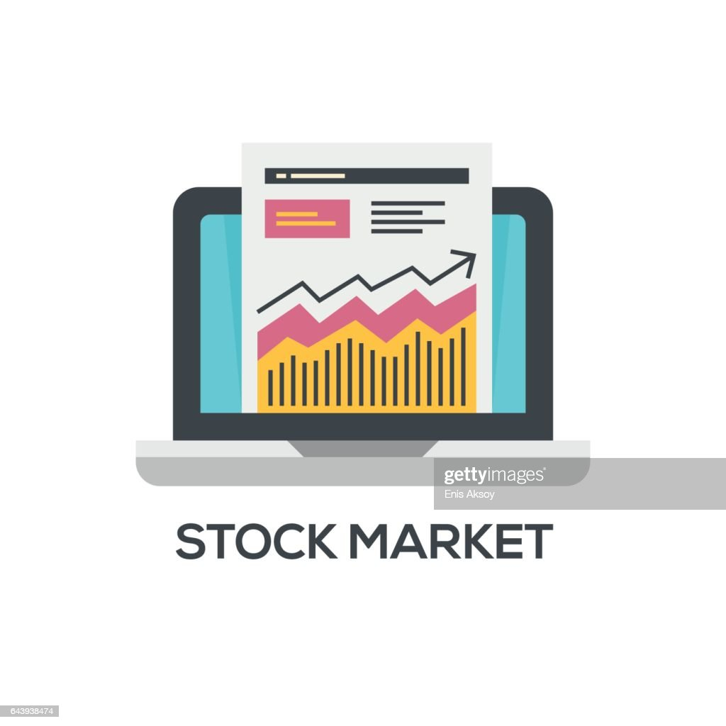 Stock Market Icon Logo Element Ilration Symbol Design From 2 Colored Collection