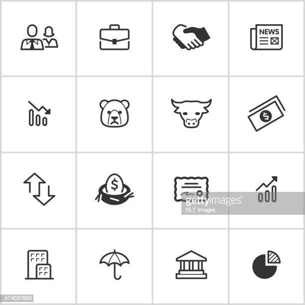 ilustrações, clipart, desenhos animados e ícones de ícones do mercado de ações — escuras series - reforma assunto