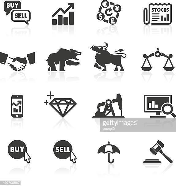 stock market icons - bull market stock illustrations, clip art, cartoons, & icons