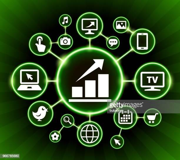 ilustraciones, imágenes clip art, dibujos animados e iconos de stock de fondo oscuro botones bolsa internet comunicación tecnología - animal vertebrado