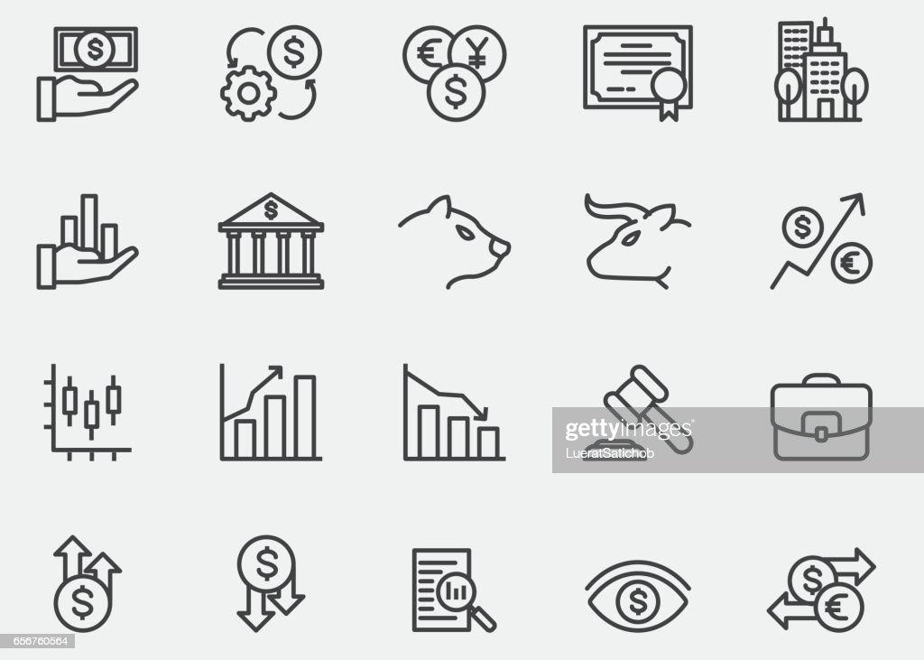 Stock Market Line Icons | EPS10 : stock illustration