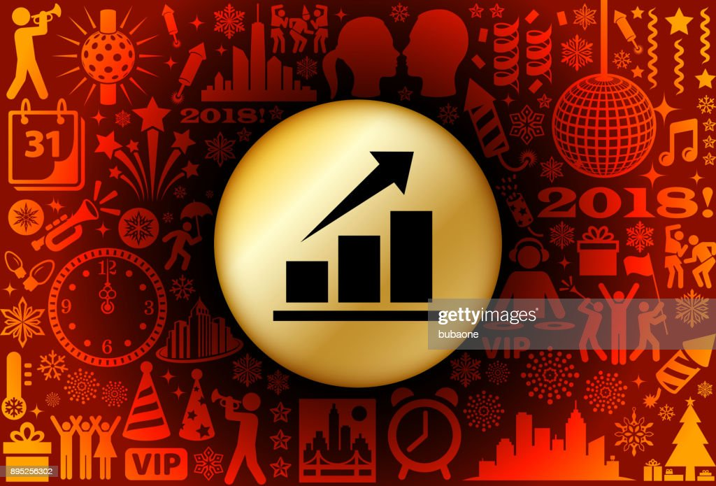 Stock Market  New Year Holiday Background Pattern