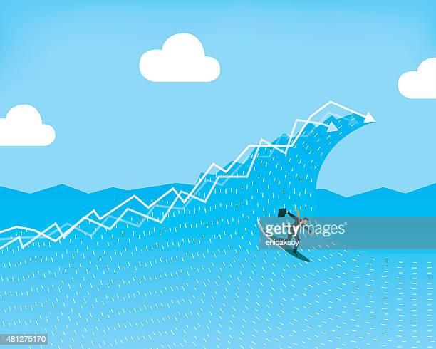 ilustraciones, imágenes clip art, dibujos animados e iconos de stock de stock market operaciones - salto de longitud