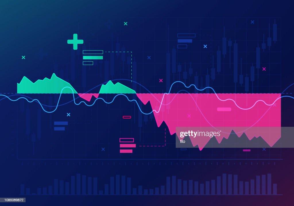 Stock Market Trading Financial Analysis Abstract : stock illustration