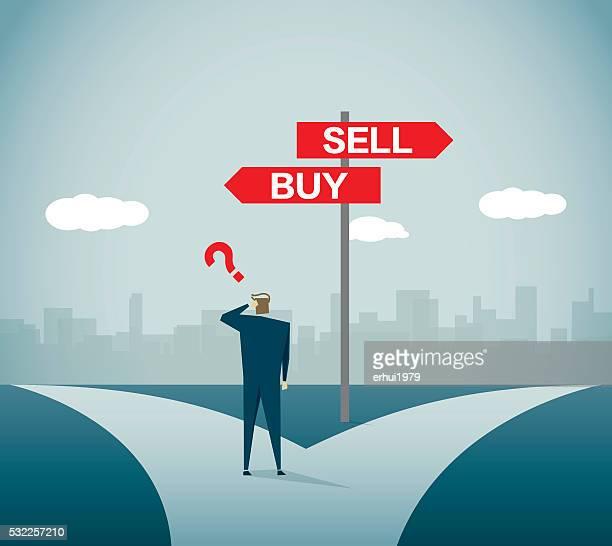 株式市場 - 買う点のイラスト素材/クリップアート素材/マンガ素材/アイコン素材