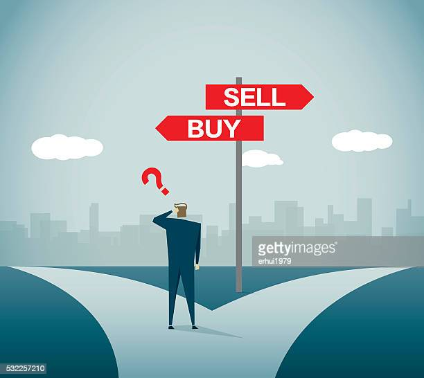 stock market - road intersection stock illustrations