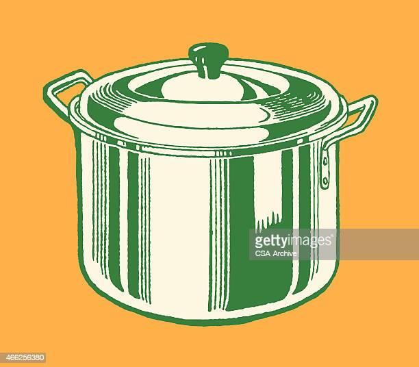 stock pot - シチュー鍋点のイラスト素材/クリップアート素材/マンガ素材/アイコン素材