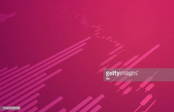 株式取引チャートの背景 - 紙テープ点のイラスト素材/クリップアート素材/マンガ素材/アイコン素材