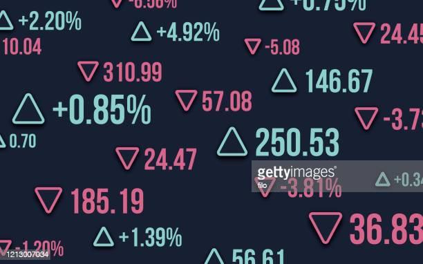 aktienwertzahlen abstrakt - kurstafel stock-grafiken, -clipart, -cartoons und -symbole