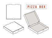 Stock vector box for pizza