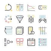 Stock Vector Illustration: Agile icon set