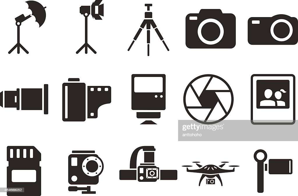 Stock Vector Illustration: camera icons - Illustration